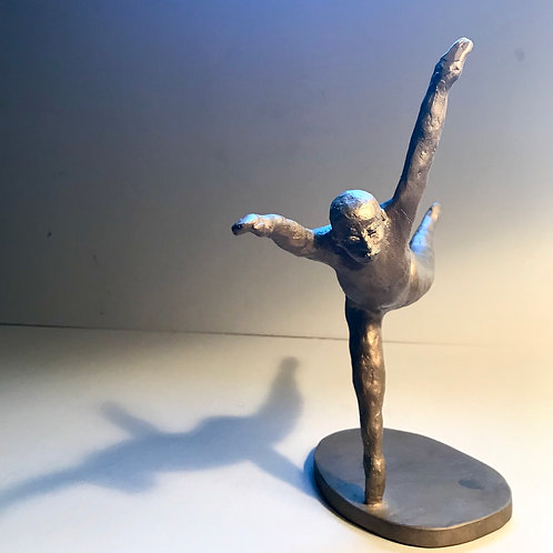 Male upright dancing in flight by William Iaculla