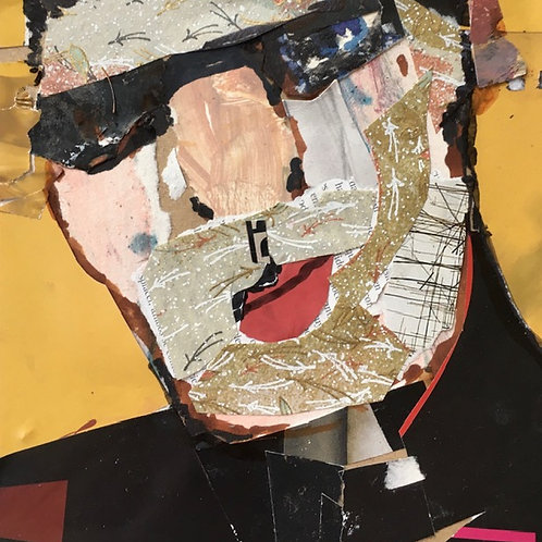 Collaged Portrait #11 by Chris Kidd