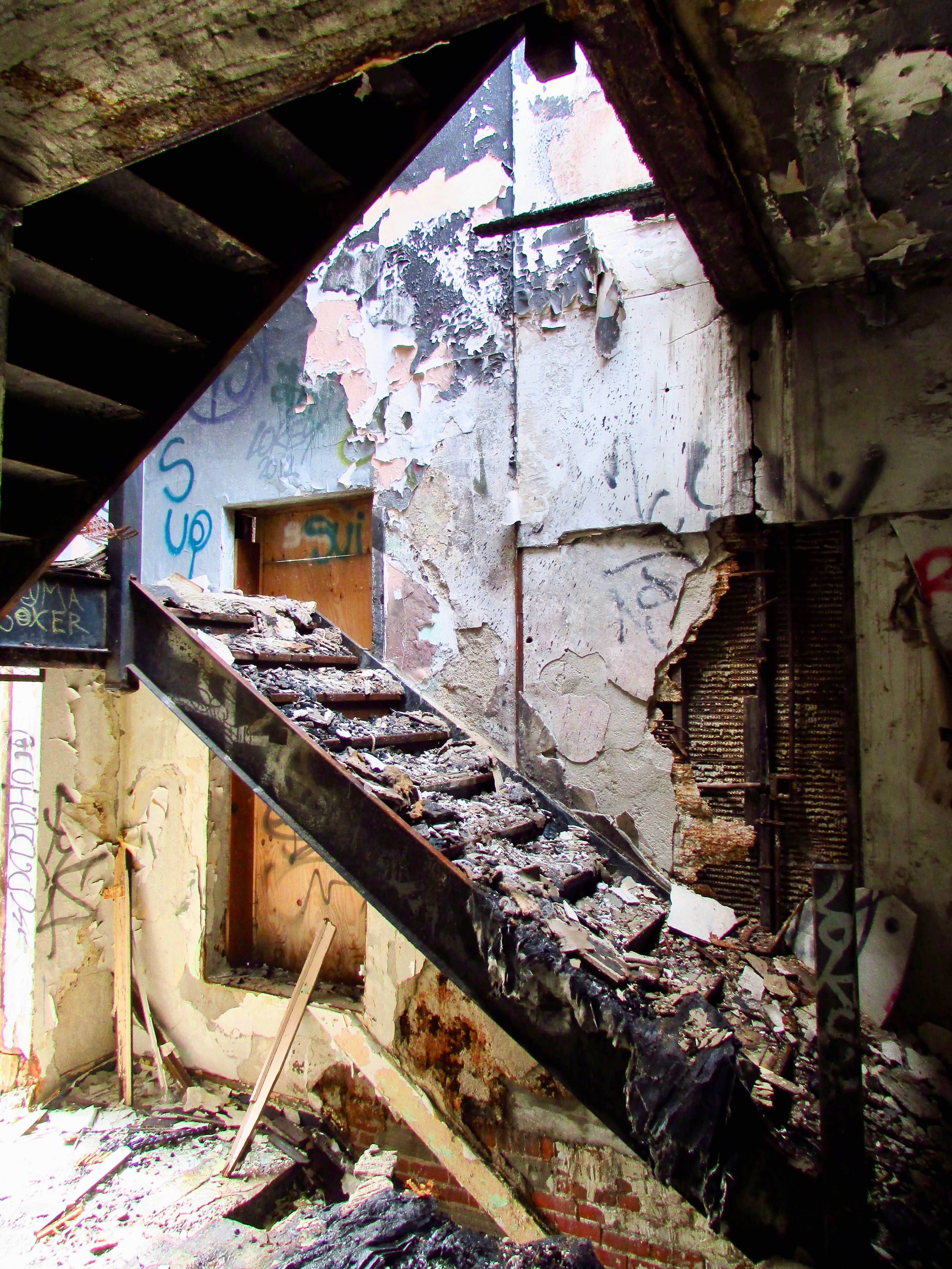 Burned Out Staircase