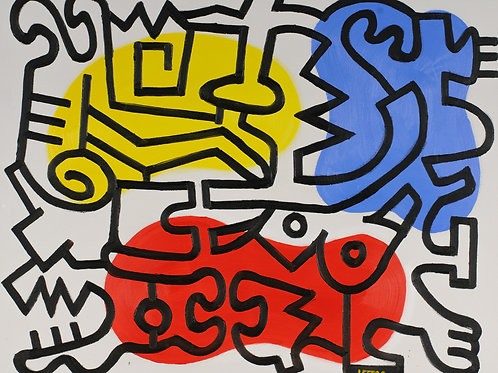 Leger and Haring by Jeff Brown