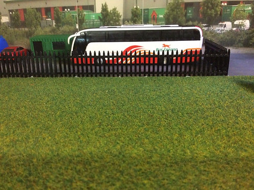 1:76 3D Printed Security fence (black) - 6pkt