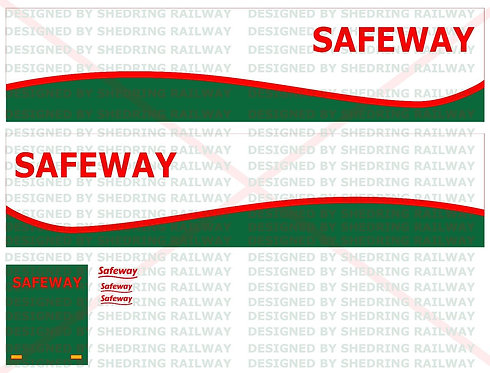 1:76 Code3 Safeway Decal Sheet For Oxford diecast Scania & Box Trailer