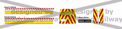 1/76 Code3 escort Decals For Oxford diecast Ford transit Connect