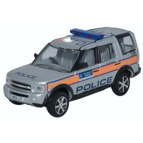1.76 Oxford Diecast Land Rover Discovery 3 Metro Police