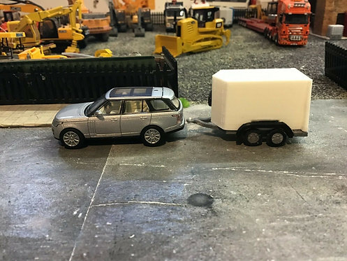 1/76 oxford diecast Range rover & S.R 3d printed trailer