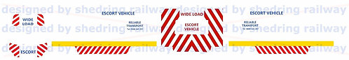 1/76 Code3 Wide load escort Decals For Oxford diecast Ford transit