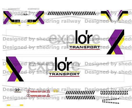 1:76 Code3 Explore Decal Sheet For Oxford diecast Scania & Box Trailer