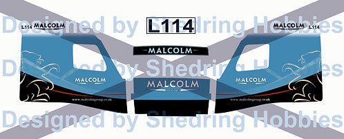 1:76 Malcolm Logistics Decals for Oxford Diecast Volvo and trailer.