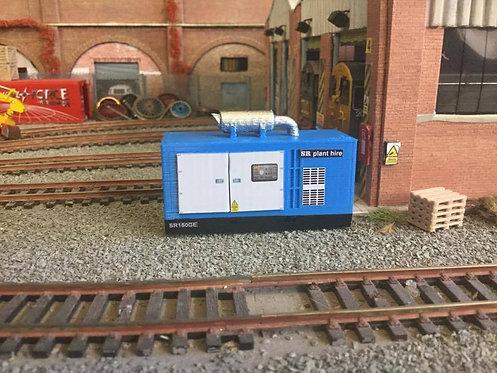 1:76 3d Printed Large Generator (blue)