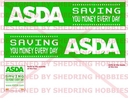 1:76 Code3 Asda Decals For Oxford diecast Scania & Box Trailer