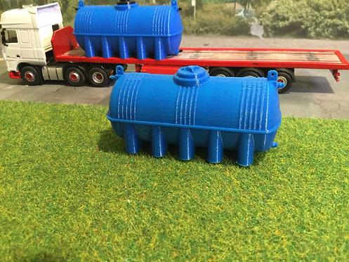 1:76 3D Printed Large Fuel bowser (blue) - 2pkt