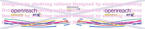 1:76 BT openreach decals for Oxford diecast ford transit