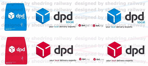 1:76 Code3 DPD Blue and Red Decals for oxford diecast transit