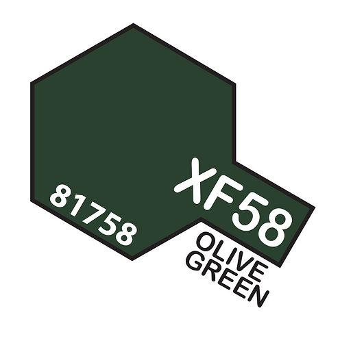 Tamiya 10ml  XF-58 Olive Green