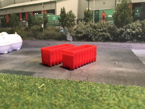 1.148 3D Printed Red Skips - 2pk