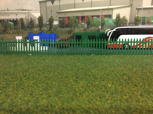 1:76 3D Printed Security fence (green) - 6pkt
