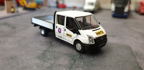1/76 Code 3 Hertz Van hire Dropside Ford Transit