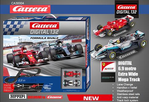 1:32 Carrera Formula Rivals 6.9m F1 Ferrari v Mercedes
