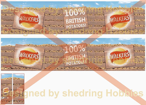 1:76 Walkers Crisps Decals for Oxford Diecast Box Trailer