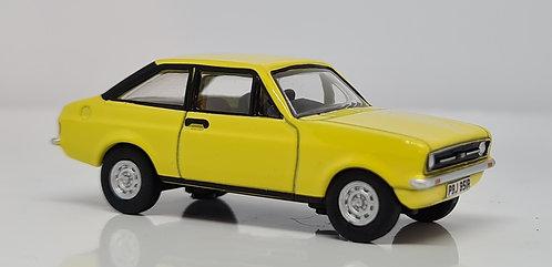 1:76 Oxford Diecast Ford Escort MK2 Signal Yellow