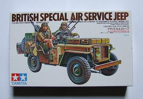 Tamiya 1/35 British Special Air Service Jeep model kit