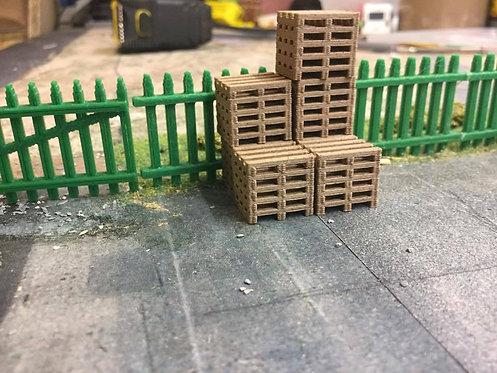 1:76 3D Printed (Real wood) Pallet Stacks - 12pkt
