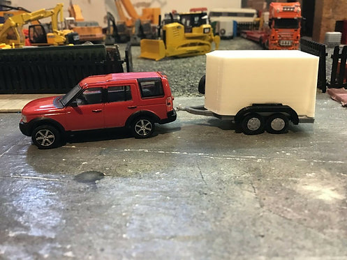 1/76 oxford diecast Land rover S.R 3d printed trailer
