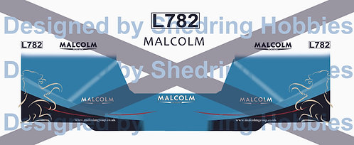 1:76 Malcolm Logistics Decals for Oxford Diecast Scania and trailer