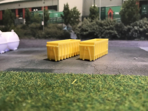 1.148 3D Printed Yellow Skips - 2pk