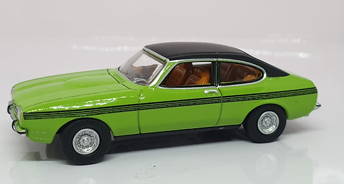 1:76 Oxford Diecast Ford Capri MKII Lime Green