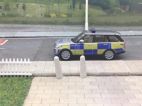 1/76 Code 3 Police Oxford Diecast Silver Range Rover