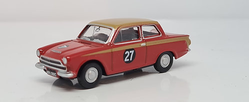 1:76 Oxford Diecast Ford Cortina MKI Red/Gold