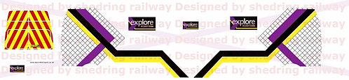1:76 Code3 Explore plant hire Decals for oxford diecast transit