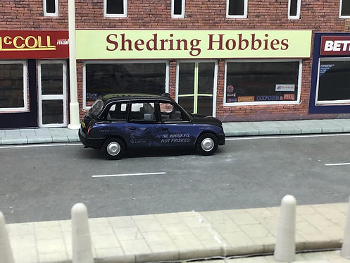 """1:76 Caledonian Sleeper """"Whisked not Frisked""""Oxford Diecast Taxi"""