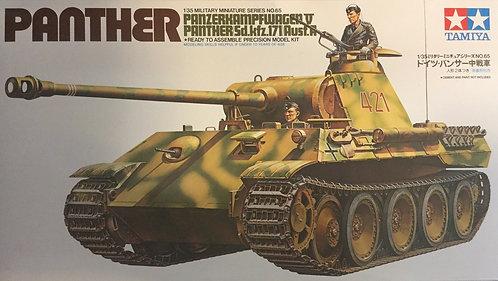 Tamiya German Panther Med. Tank, 1/35 Model Kit 35065