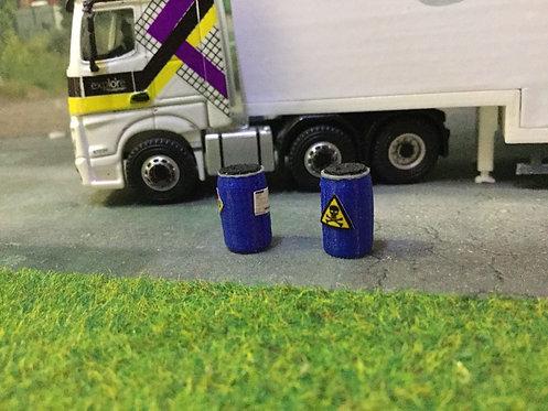 Chemical Barrels Blue 1:76 / OO gauge - 8 Pack