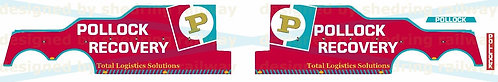1:76 Code3 Pollock recovery Decals For Oxford Diecast Recovery trucks