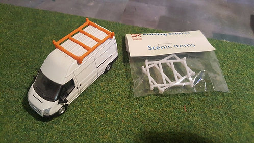 1:76 3D Resin Printed Ford Transit Roof Racks