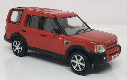 1:76 Oxford Diecast Land Rover Discovery 3 Rimini Red Metal