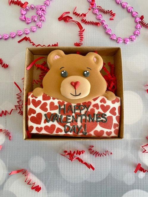 Valentine Bear Custom Sugar Cookie