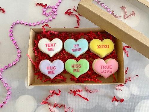 Miniature Conversation Heart cookie set