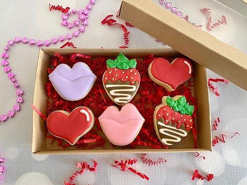 Lips and Berries mini cookie set
