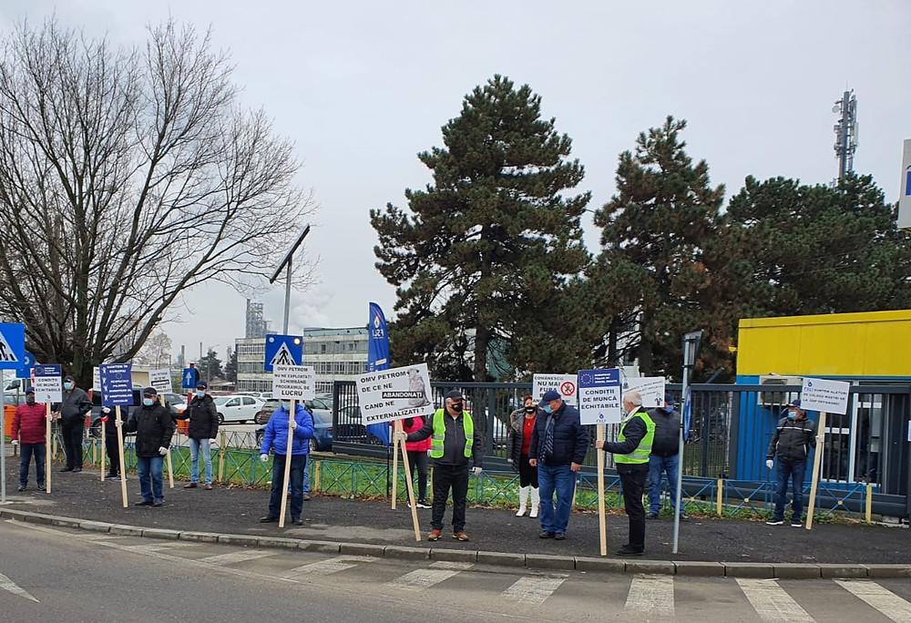 Protest FSLI Petrol Energie Rafinaria Brazi