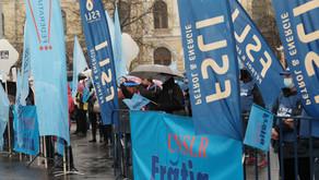 FSLI PETROL-ENERGIE protestează în stradă alături de CNSLR-Frăția
