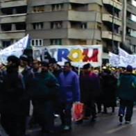 Alături de parteneri din alte sindicate, în lupta pentru drepturi.