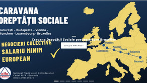 """MIȘCAREA SINDICALĂ:PROTEST INDEDIT AL COLEGILOR, MEMBRI CARTEL ALFA: """"CARAVANA DREPTURILOR SOCIALE"""""""