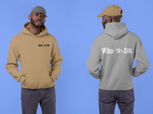 Who👁Am Hoodies Front and back