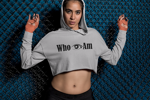 Who 👁 Am Crop Hoodie/Sweatshirt