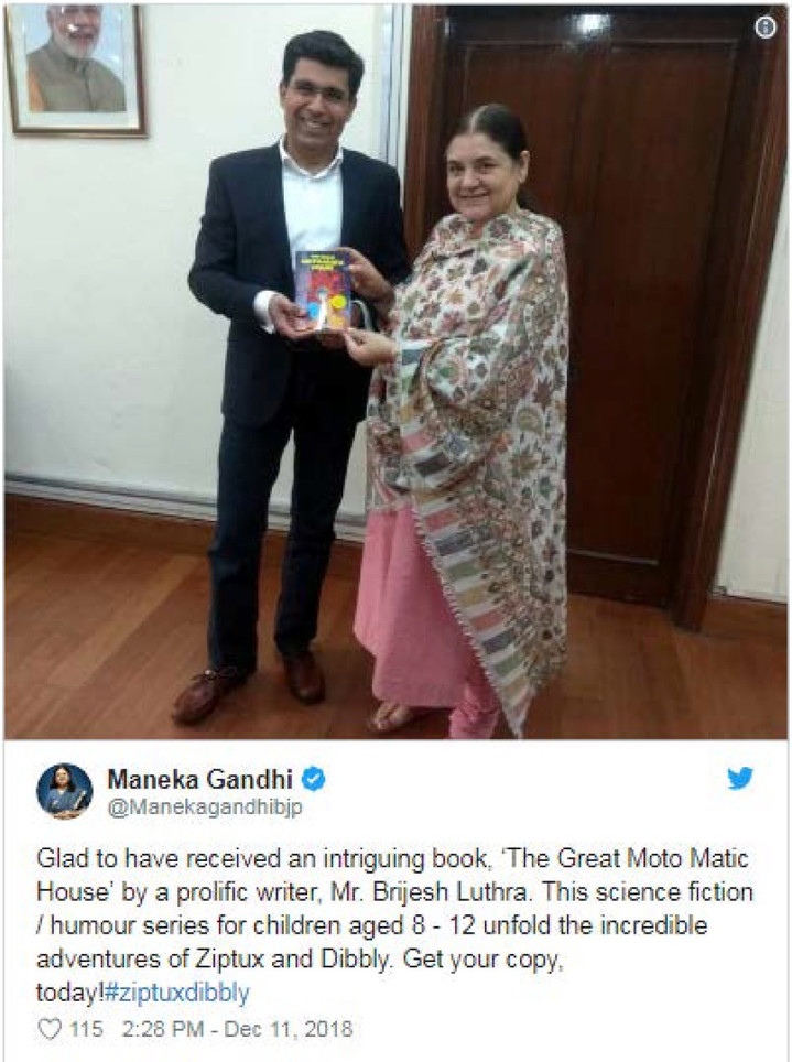 Maneka Gandhi Tweet