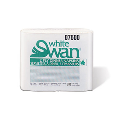 White Swan 2Ply Dinner 8 Fold Napkin